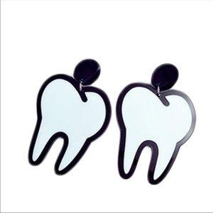 Fun goth tooth earrings